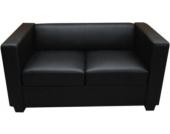 heute-wohnen 2er Sofa Couch Loungesofa Lille,Leder