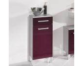 Badezimmer-Unterschrank in Lila-Grau Silber