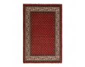 Teppich-Indo Mir Dehli Rot - Reine Wolle - 200cm x 300cm, Parwis