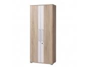 Aktenschrank Intellect - Sonsoma Eiche Dekor/Weiß - Höhe: 185 cm, home24 office