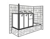HSK Badewannenaufsatz Prima, Sondermaß mit Seitenwand