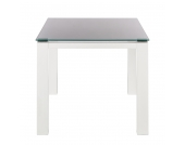 Glastisch Palma - Weiß lackiertes Glas/Lack Weiß - 90 x 90 cm, Niehoff
