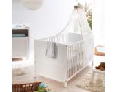 Babybett mit Himmel Weiß (2-teilig)