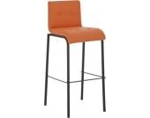 Schwarzer Metall Barhocker AVOLA mit Kunstlederbezug - aus bis zu 11 Farben wählen - Sitzhöhe 78 cm, einfach bequem sitzen
