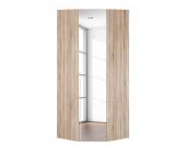 Eckschrank Melva - Eiche Sonoma Dekor/Spiegel - BxH: 92,3 x 216 cm, Express Möbel
