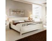 Doppelbett in Weiß Landhaus Design