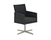 Edelstahl Clubsessel / Lounge-Sessel CUBIC mit Stoffbezug, aus bis zu 4 Farben wählen
