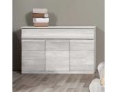 Wohnzimmer Sideboard aus Buche Massivholz Weiß lackiert