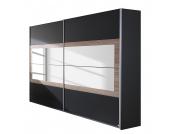 Schwebetürenschrank Tarragona - Grau Metallic/Eiche Sanremo Dekor - 181 cm (2-türig), Rauch Packs