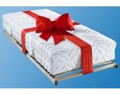 Breckle Set: Taschenfederkernmatratze   Lattenrost »Tendenz K«, 3 (81-100 kg), 140x200 cm