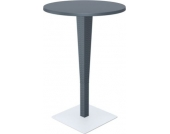 runder Design Stehtisch RIVA Durchmesser Ø 70 cm, Vollkunststoff in Rattan Optik, Höhe: 108 cm, UV-, farb- und wasserbeständig