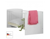 Babybett Gina - Alpinweiß/Hochglanz Brombeer - mit Schubkasten, Wimex