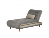Chaiselongue Energy - Webstoff - Grau / Cappuccino, roomscape