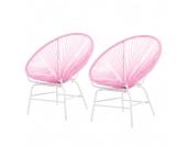 Loungesessel Copacabana (2er Set) - Pink, Garden Guerilla
