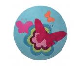 Kinderteppich Butterflies - Ø 100 cm, Esprit Home