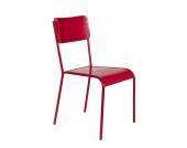 Stuhl in Rot Metall