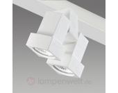 Schienensystem-Strahler STYLE Q 2-flammig weiß