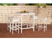Polyrattan Gartenbar Set ALIA (4 x Barhocker, 4 x Sitzkissen, Bartisch 84 x 84 cm, Höhe 110 cm)