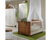 Babybett in Weiß mit Schlupfsprossen