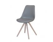 Stuhl in Grau Retro Design (2er Set)