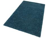 my home Hochflor-Teppich »Finn«, blau, 60x90 cm