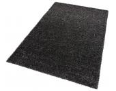 my home Hochflor-Teppich »Finn«, schwarz, 240x320 cm