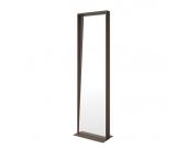 Standspiegel Cabelia - Braun - Metall/Spiegelglas, Violata Furniture