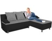 VCM Ecksofa ´´Stylosa Schwarz´´ Kunstleder   Couch mit Schlaffunktion
