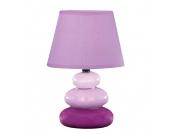 EEK A++, Tischleuchte Rocco Tres - Keramik/Textil - Violett, Honsel