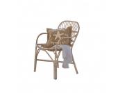 Stuhl Garrett - Rattan - Antikweiß, Loberon