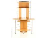 Eckschreibtisch / Schreibtisch / Computertisch CORNER MAXX Buche / Silber hjh OFFICE