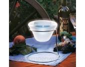 Design Solar Tischleuchte Edelstahl
