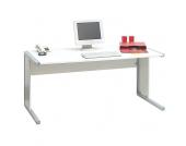 Computer-Schreibtisch in Weiß