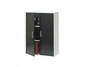 Aktenschrank mit Türen in schwarz