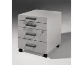 Schreibtisch Rollcontainer in Grau