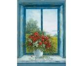 Bild, Kunstdruck, Home affaire, »A. Heins: Mohnblumen am Fenster«, 29/39 cm