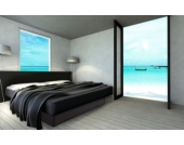 Ocean Mono Wasserbett, 140 x 200 cm, schwarz, F6