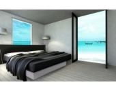 Ocean Duo Wasserbett, 160 x 200 cm, weiß, F5