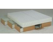 Ocean Duo Wasserbett Deluxe mit Schubladen, 200 x 200 cm, buchefarben, F6