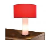 Tischleuchte DOMINIKA rot-weiß