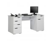Computertisch Scarlett - Arktis-Weiß Hochglanz, Office Collection