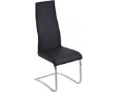 Freischwinger-Stuhl RACHEL, Hochlehner mit Gestell in Chromoptik, Sitzhöhe 48 cm (aus bis zu 4 Farben wählen)