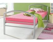Schlafwelt Metallbett, rosa, Bonnell-Federkernmatratze