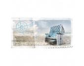 Kunstdruck Strandkorb 200x100, Pro Art